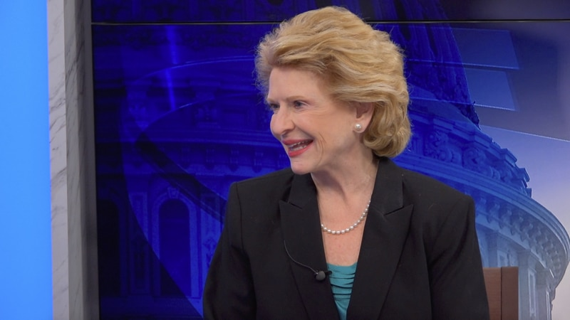"""Sen. Debbie Stabenow (D-Mich.) says she's """"very happy"""" that her governor, Gretchen Whitmer..."""