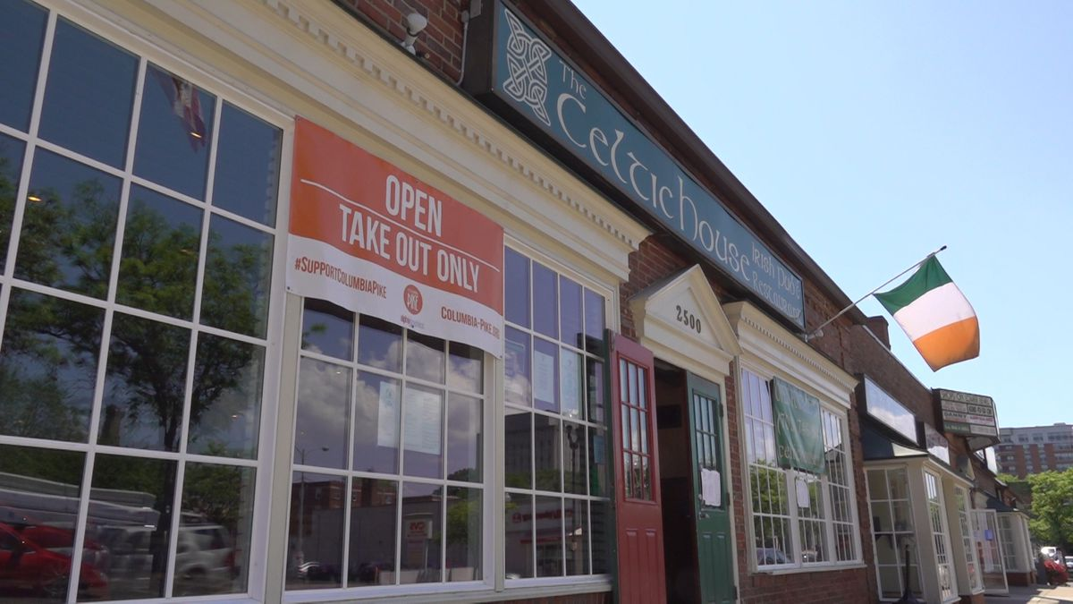 Local businesses like Celtic House are hit hard by the coronavirus closures. With take-out only, co-owner Michael McMahon says business is down 80 percent. (Source: GrayDC)