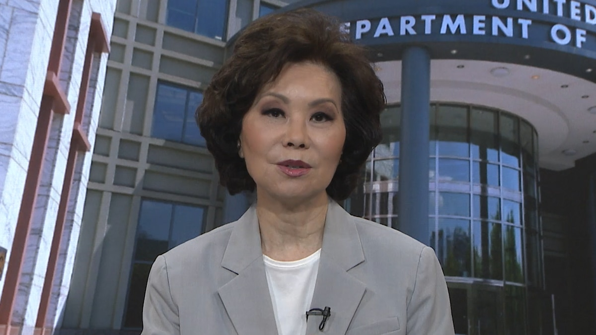 Sec. Elaine Chao discusses grants awarded to airports around the country. (Source: Gray DC)