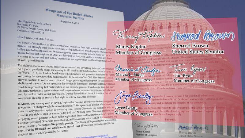 Sen. Sherrod Brown and Representatives Marcy Kaptur, Marcia Fudge, Joyce Beatty, and Tim Ryan...