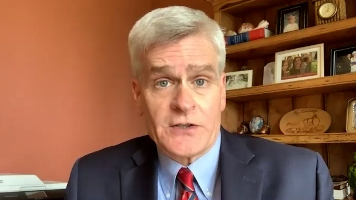 "Sen. Bill Cassidy says Hurricane Delta's arrival, following Hurricane Laura and in the midst of a pandemic, ""is unique among disasters."""