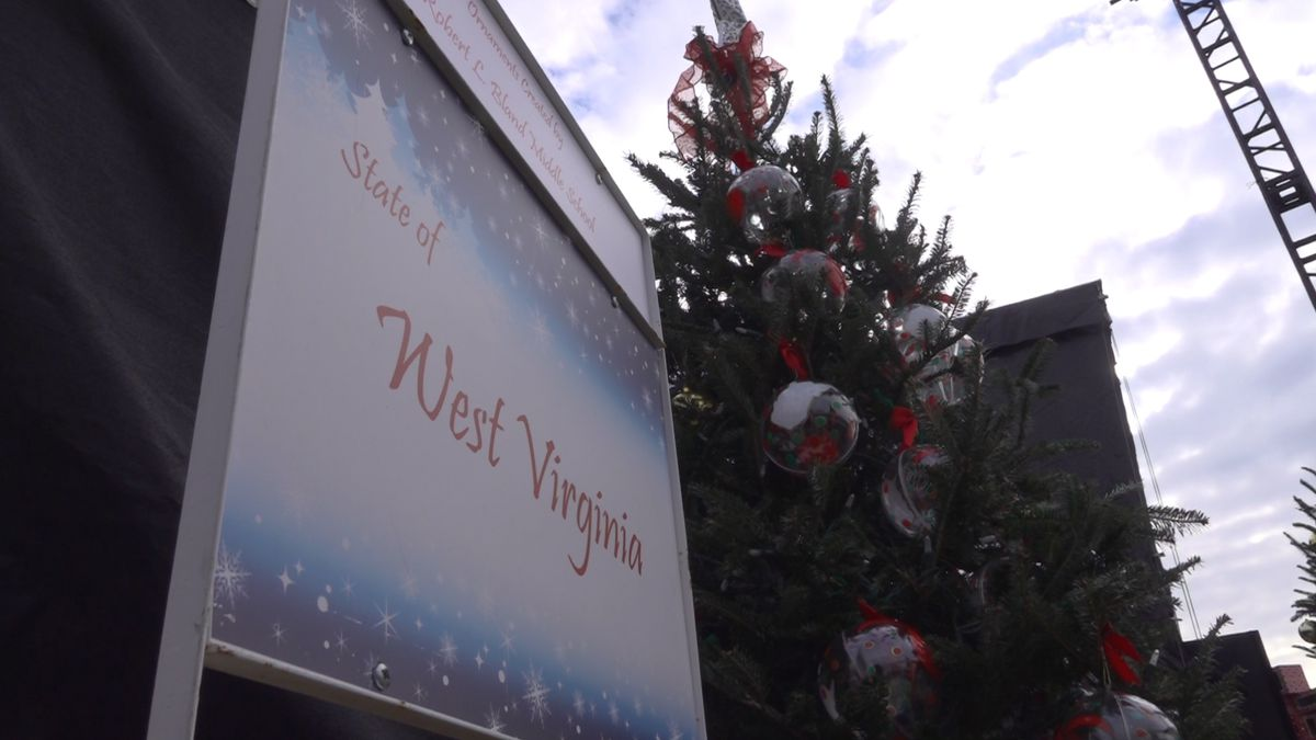 Robert L. Bland middle schoolers decorate West Virginia's state tree in D.C. (Source: Gray DC)