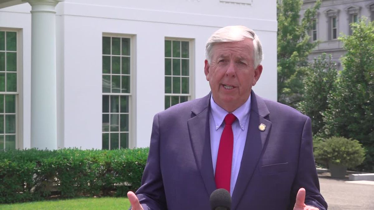 Gov. Mike Parson (R-MO) discusses his upcoming meeting with President Trump about schools...