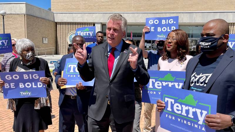 Former Virginia Governor Terry McAuliffe says he has a record of success, a bold vision and the...