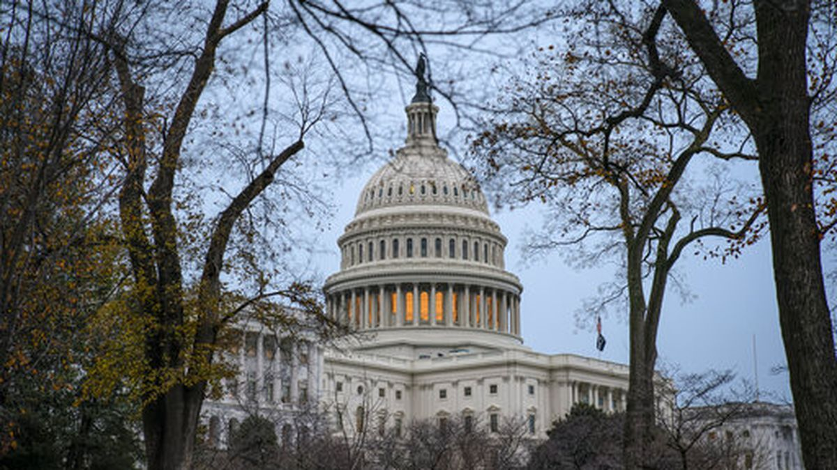 The Capitol is seen in Washington, Monday, Dec. 2, 2019, as lawmakers return from the Thanksgiving recess. The House impeachment report on President Donald Trump will be unveiled Monday behind closed doors as Democrats push ahead with the inquiry despite the White House's declaration it will not participate in the first Judiciary Committee hearing. (AP Photo/J. Scott Applewhite)