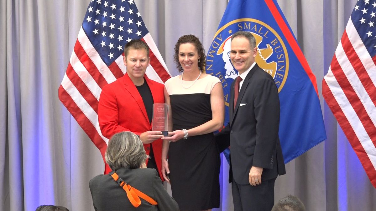 Paul Isenberg, co-owner and CEO of Smart Start Child Care, is honored in D.C. during National Small Business Week 2019. (Source: Gray DC)