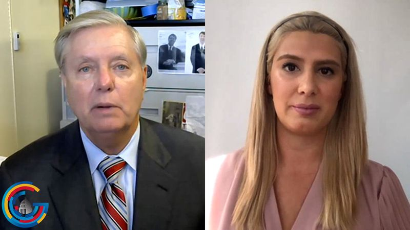 Sen. Lindsey Graham does an interview on the 2020 campaigns with DC Correspondent Alana Austin