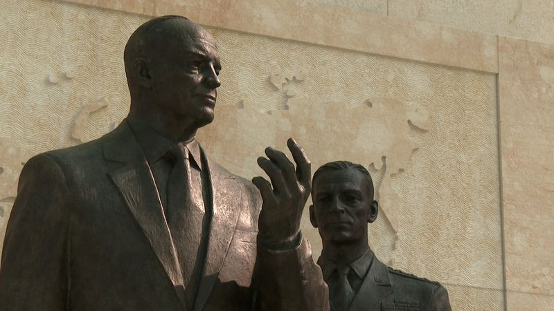 One of the statues that honors our 34th president at the Dwight D. Eisenhower Memorial on the National Mall in Washington, D.C.