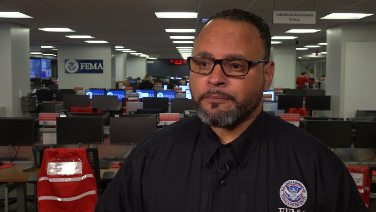 Alex Amparo, FEMA's Assistant Administrator for the National Preparedness Directorate, said residents in the Gulf region need to keep an eye on the slow-moving Tropical Storm this weekend. (Source: Gray DC)
