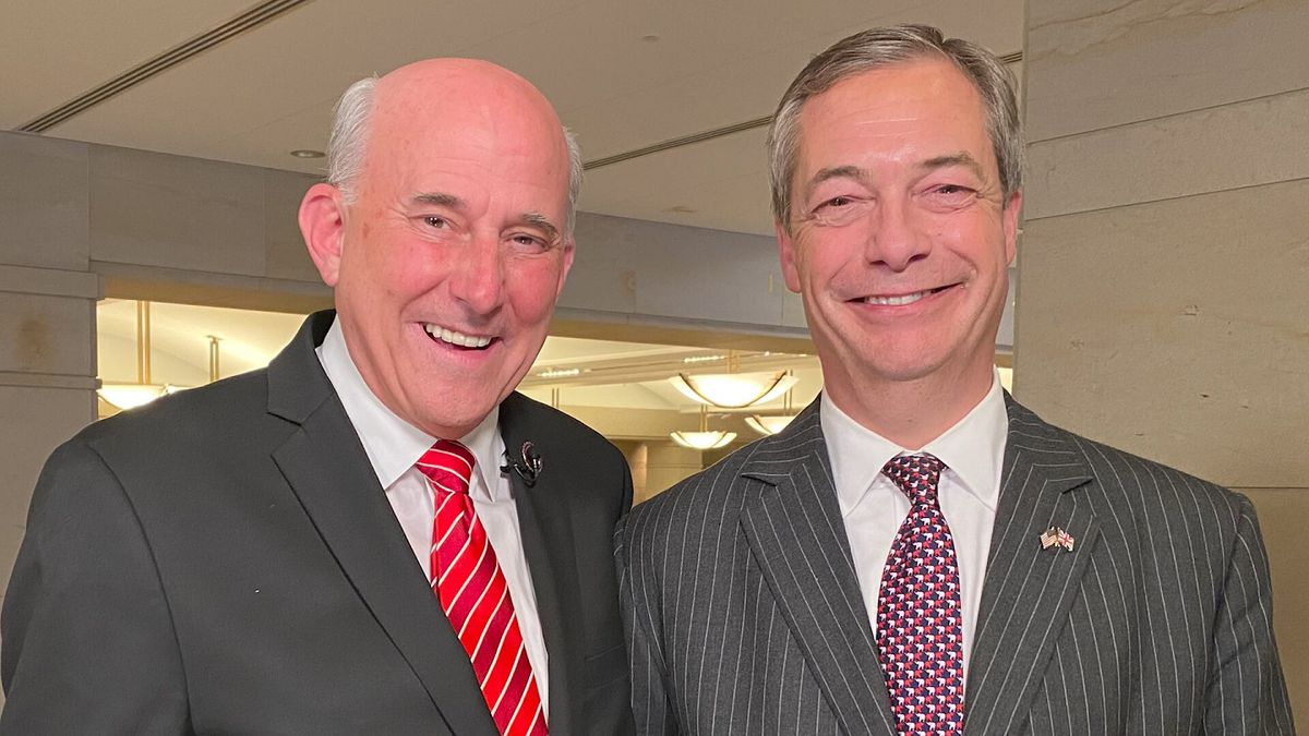 Rep. Louie Gohmert (R-Texas) welcomed Nigel Farage as his guest to the State of the Union Tuesday night. (Source: Gray DC)