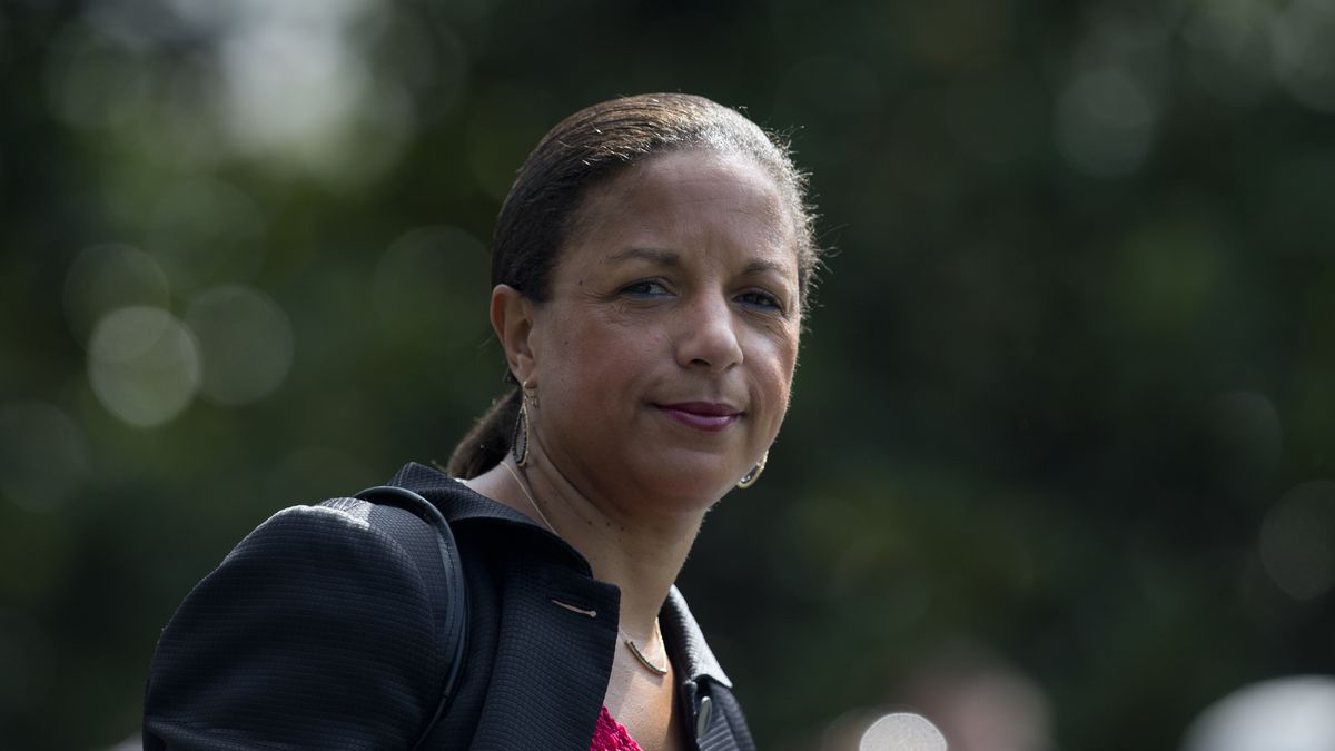 FILE - In this July 7, 2016, file photo, national security adviser Susan Rice on the South Lawn...