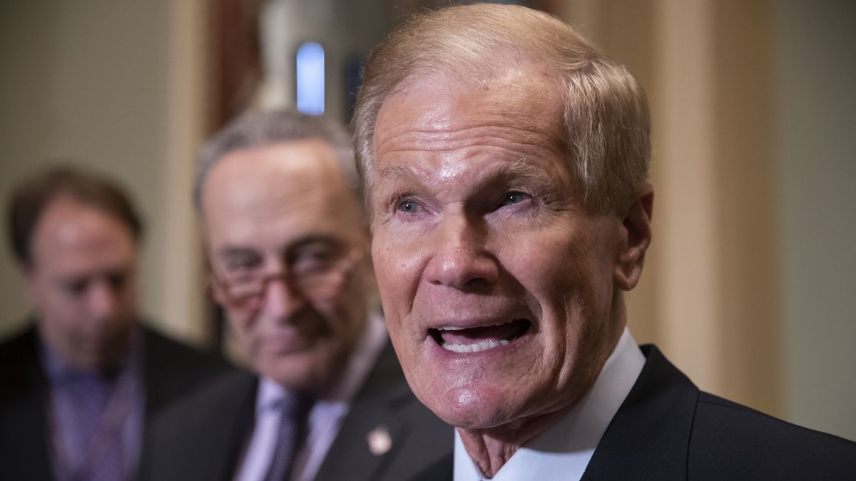 FILE - In this Nov. 13, 2018 file photo, Sen. Bill Nelson, D-Fla., attends a news conference at...