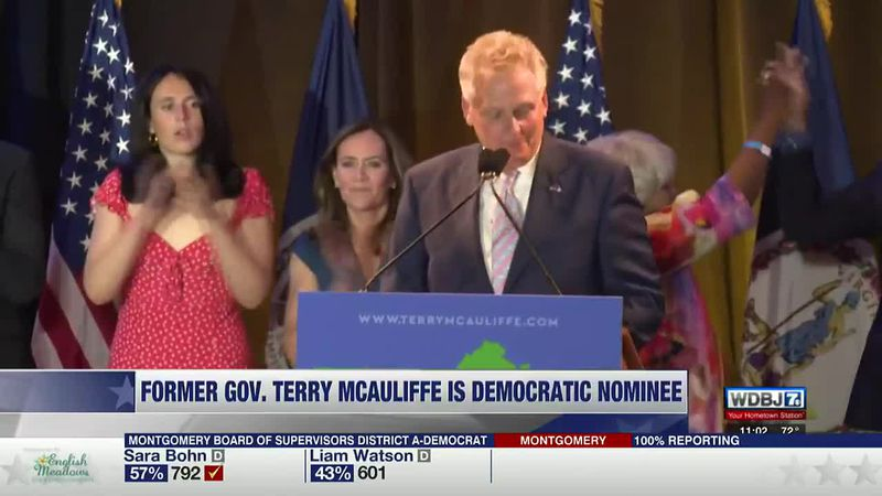 2021 Democratic Governor Nominee VA