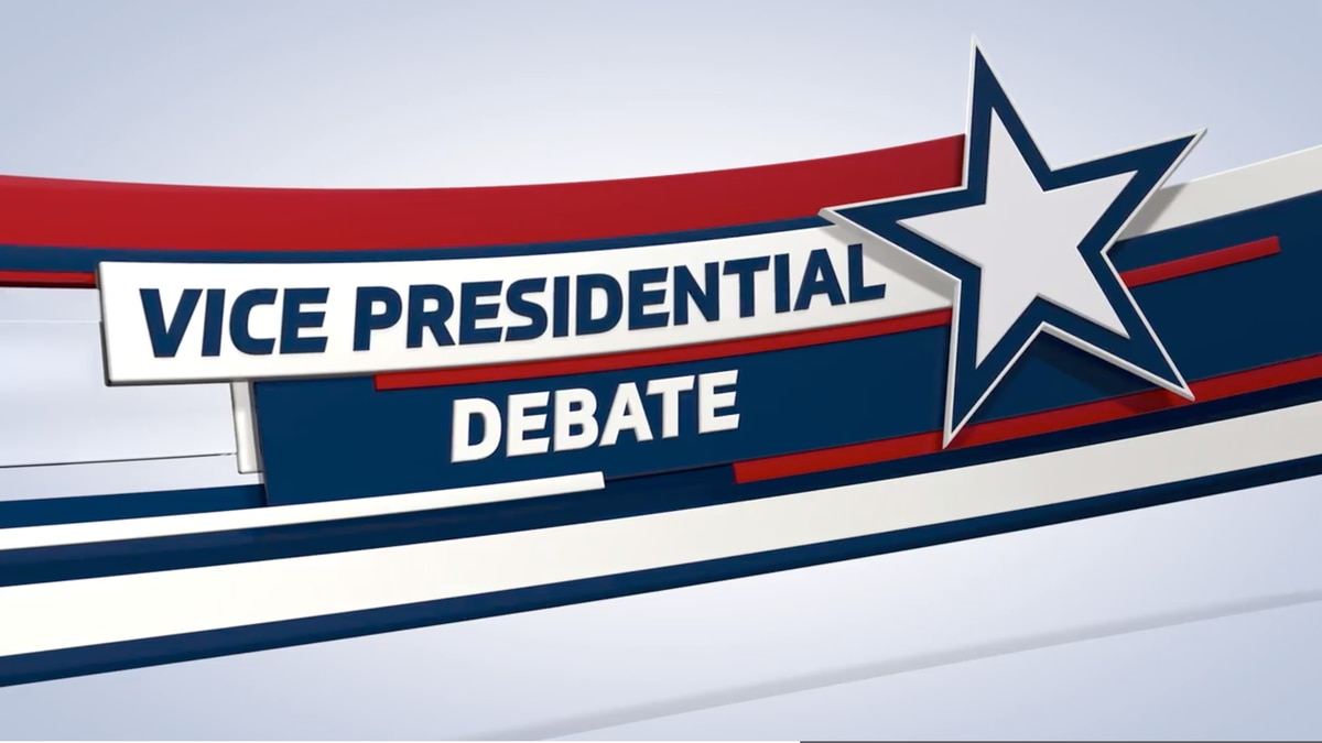 The vice presidential debate will take place Wednesday, Oct. 7.