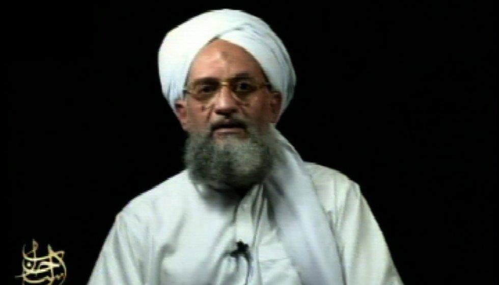 FILE - This frame grab from video shows al-Qaida's leader Ayman al-Zawahri at an unknown...