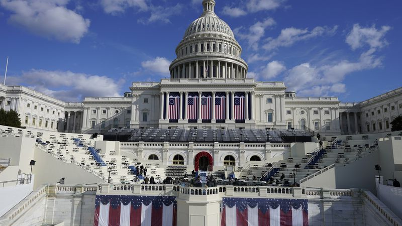 The Capitol is readied for the 59th inaugural ceremony for President-elect Joe Biden and Vice...
