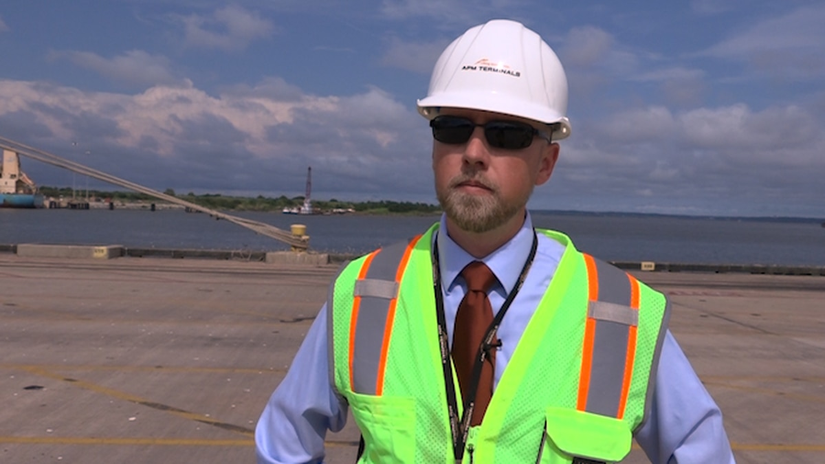 Brian Harold says the Port of Mobile's biggest trading partner is China. (Source: Gray DC)