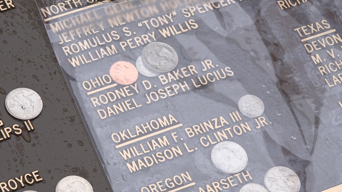 Daniel Lucius' name appears on a plaque with other firefighters who paid the ultimate sacrifice...