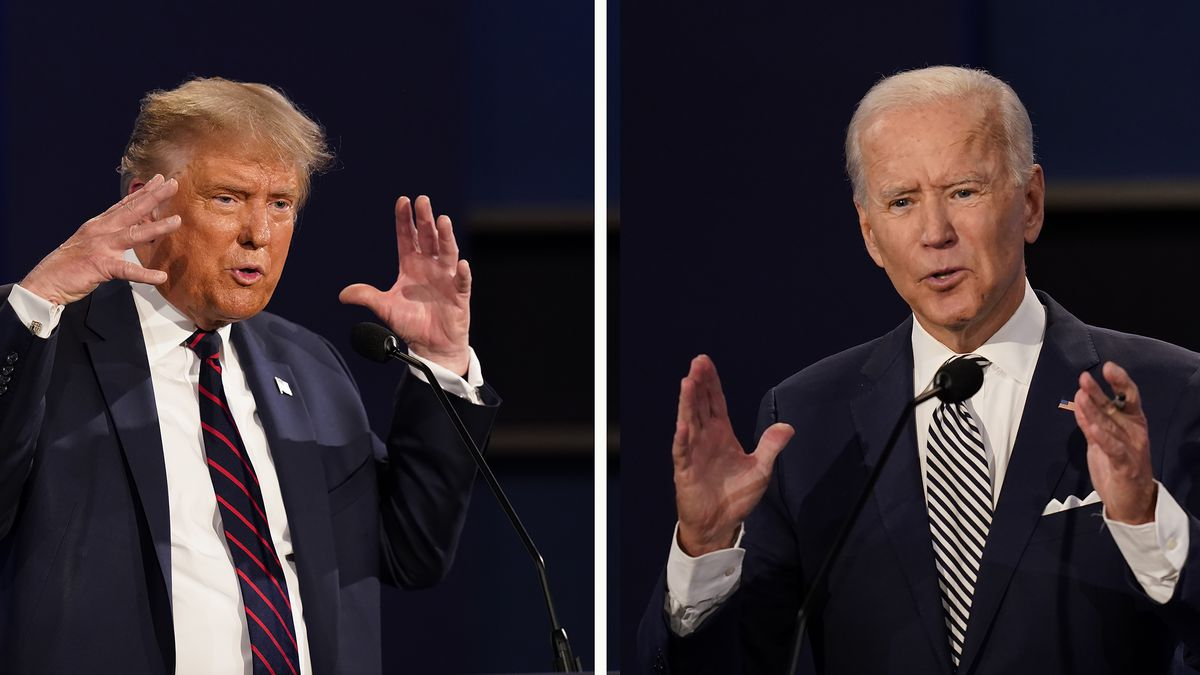 President Donald Trump, left, and former Vice President Joe Biden during the first presidential debate in Cleveland, Ohio.