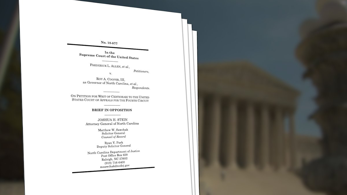 North Carolina's Attorney General and Solicitor General will argue the state is not...