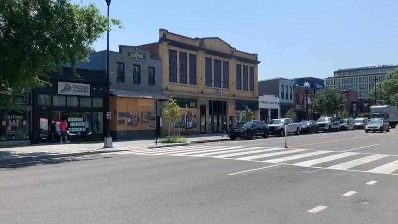 Empty storefronts in Washington