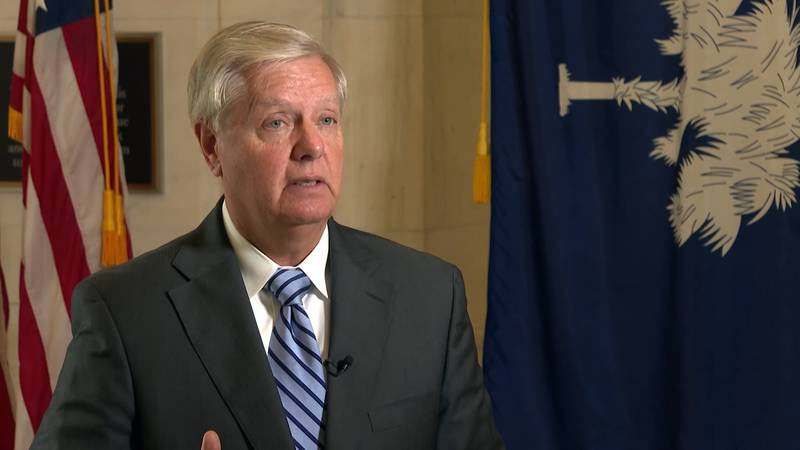 Sen. Lindsey Graham does an interview on Capitol Hill about his reflections on the 20th...